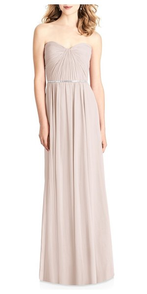 JENNY PACKHAM strapless chiffon gown in blush - Flaunt undeniable charm in this classically elegant...