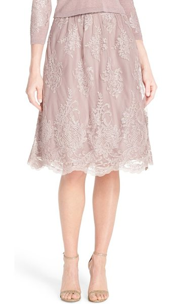Jenny Yoo arianna lace a-line skirt in vintage iris