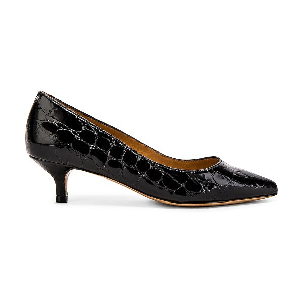 Jerome Dreyfuss fan fan pump in croco vernis noir
