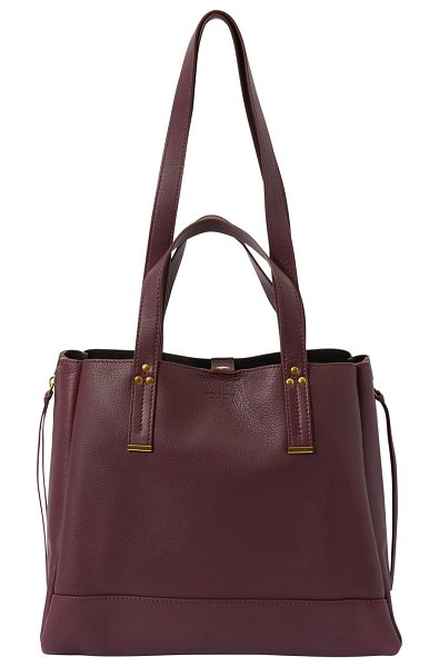 Jerome Dreyfuss Georges medium hand bag in bordeaux