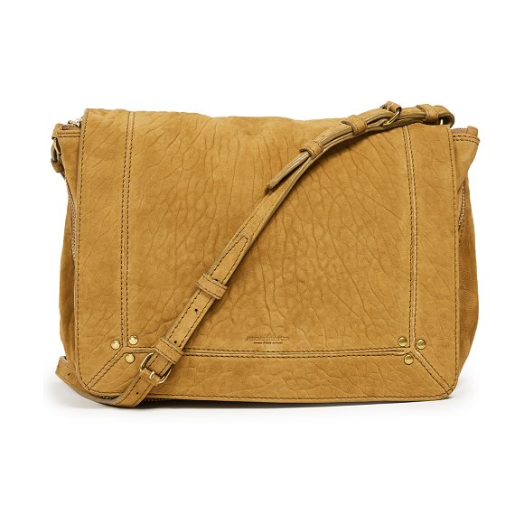 Jerome Dreyfuss igor shoulder bag in ponce moutarde - Leather: Lambskin Magnetic closure at front Zip interior...
