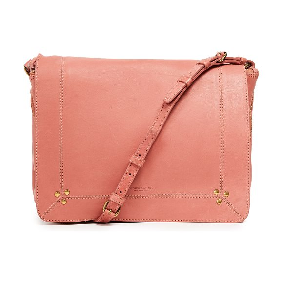Jerome Dreyfuss igor shoulder bag in lisse rosa - Leather: Lambskin Magnetic closure at front Zip interior...