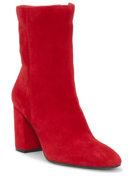 Jessica Simpson kaelin bootie in richest red suede