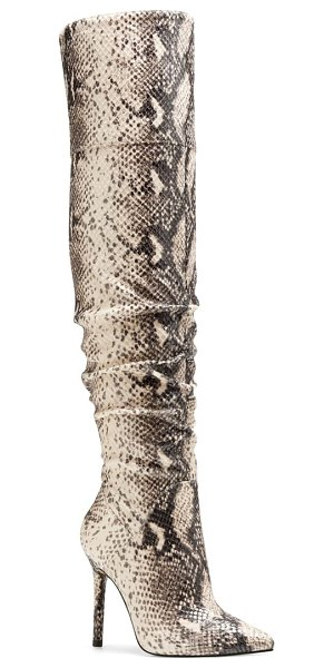 Jessica Simpson loury over the knee boot in neutral fabric
