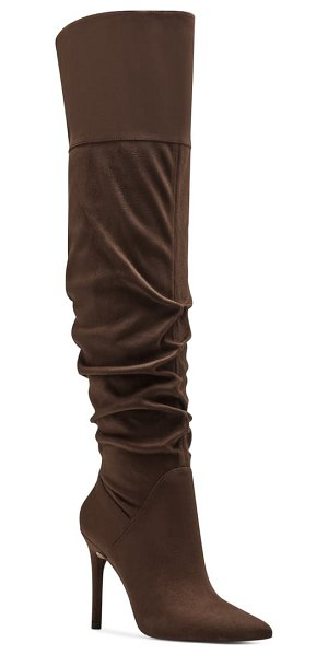 Jessica Simpson loury over the knee boot in slumber brown fabric