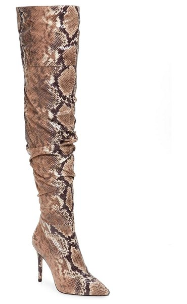 Jessica Simpson lyrelle pointy toe slouchy knee high boot in totally taupe combo
