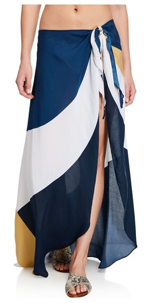 JETS by Jessika Allen Colorblock Coverup Pareo in navy/gold