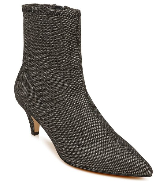 JEWEL BADGLEY MISCHKA pointed toe bootie in smoke fabric
