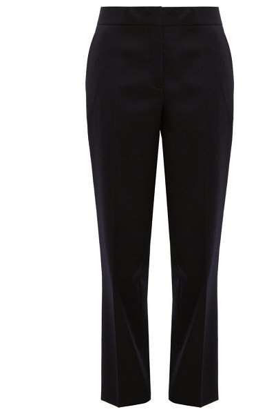 Jil Sander straight-leg wool trousers in dark navy
