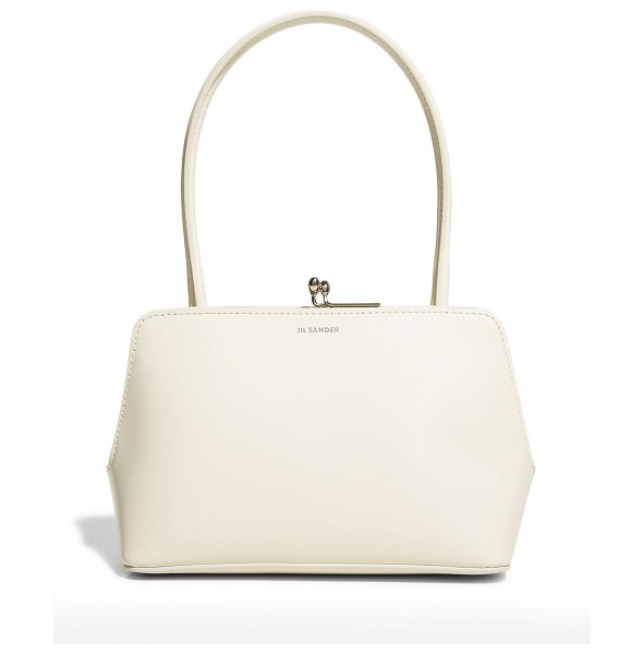 Jil Sander Goji Mini Frame Top-Handle Bag in white