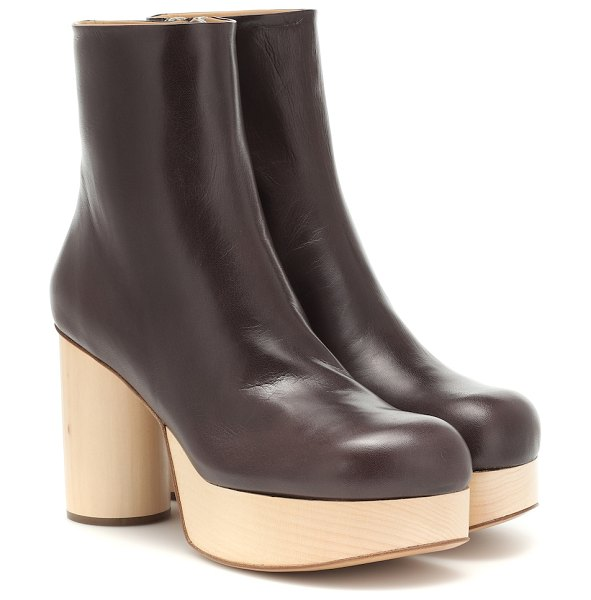 Jil Sander leather ankle boots in brown