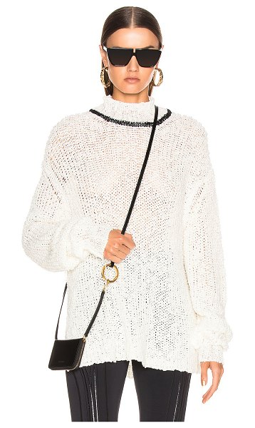 Jil Sander mock neck sweater in white