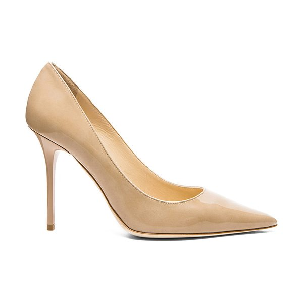 Jimmy Choo Abel 100 Patent Pumps in neutrals - Patent leather upper with leather sole.  Made in Italy. ...