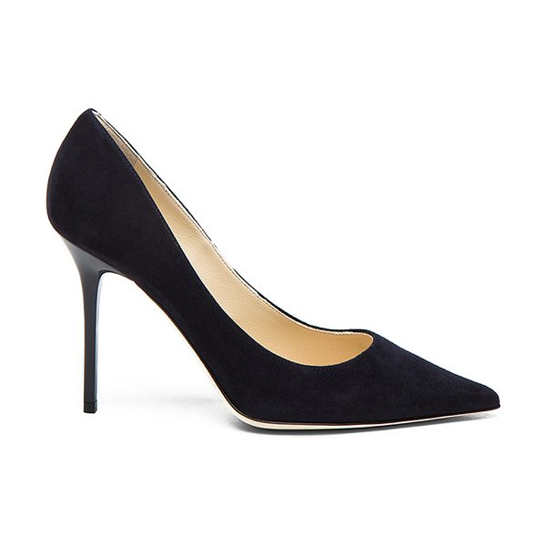 Jimmy Choo Abel 100 Suede Pumps in blue - Suede upper with leather sole.  Made in Italy.  Approx...