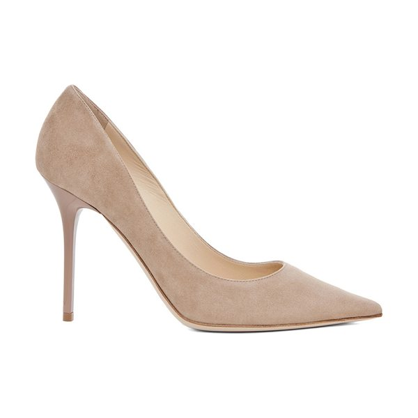 JIMMY CHOO Abel Suede Pumps - Suede upper and sole.  Made in Italy.  Approx 110mm/ 4.3...