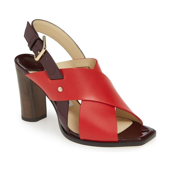 Jimmy Choo aix cross strap sandal in red mix