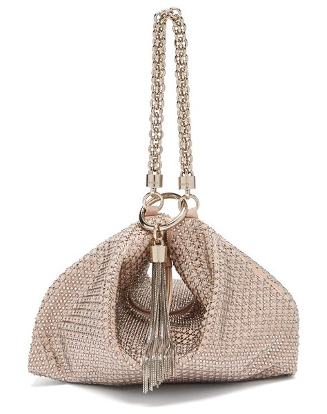 Jimmy Choo callie crystal embellished pink suede purse in light pink - Jimmy Choo - For Resort 2019, Jimmy Choo crafts its...