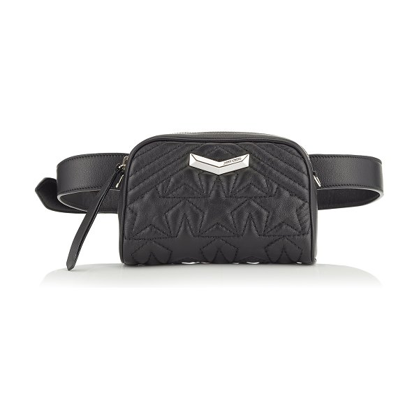 Jimmy Choo HELIA CAMERA BAG Black and Silver Star Matelassé Nappa Leather Camera Bag with Embossed Stars in black/silver - Embodying this season's key themes, the Helia Camera Bag...