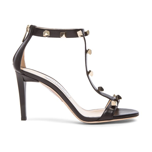 JIMMY CHOO Lamba Cube Studded Leather Heels - Leather upper and sole.  Made in Italy.  Approx 90mm/ 3.5...