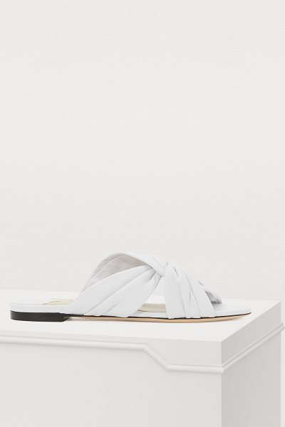 Jimmy Choo Lela mules in white - Jimmy Choo firmly roots its creations in current trends,...