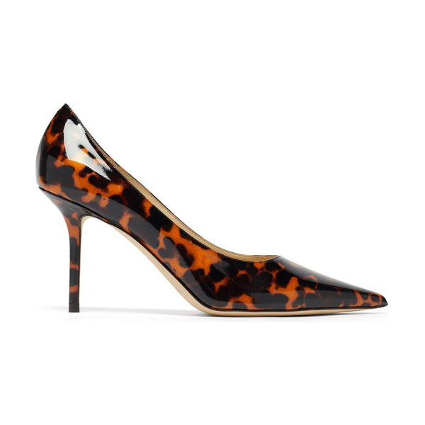 Jimmy Choo love 85 tortoiseshell-effect patent-leather pumps in brown multi