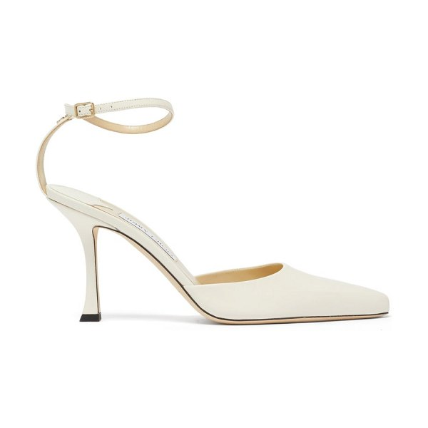 Jimmy Choo mair 90 point-toe leather pumps in beige