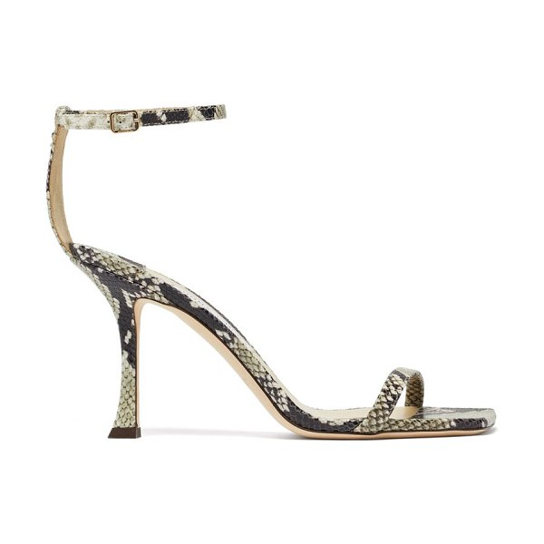 Jimmy Choo marin 90 python-effect leather sandals in python