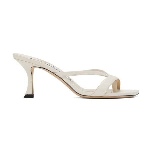 Jimmy Choo off-white maelie 70 heeled sandals in latte