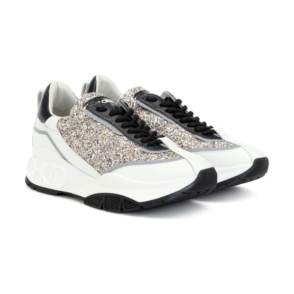 Jimmy Choo raine glitter sneakers in multicoloured