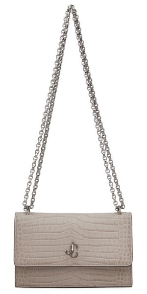 Jimmy Choo taupe croc bohemia chain bag in sand