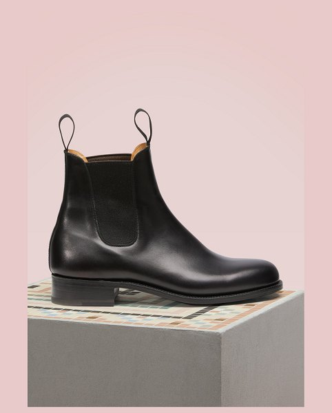 Jm Weston Cambre Box Calf Chelsea Boots in noir