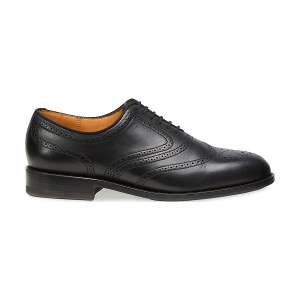 Jm Weston Cyclist decor perforations leather sole Brogues in noir