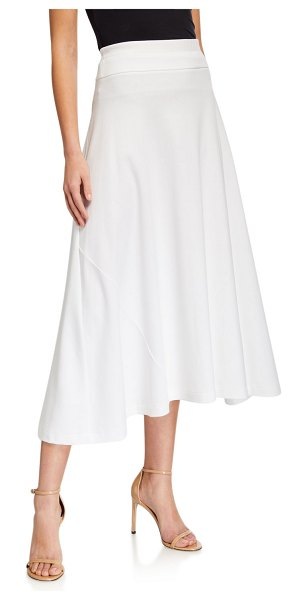 Joan Vass Classic Long Skirt in white