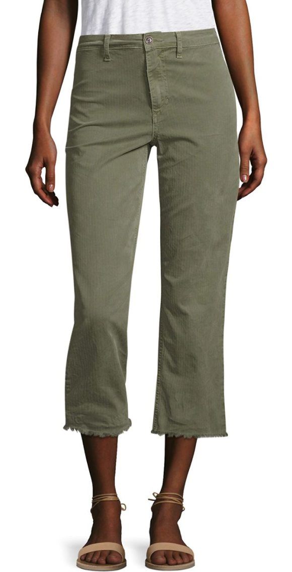 JOE'S jane cropped straight-leg cargo pants - Cropped, straight-leg cotton-blend cargo pants with frayed...