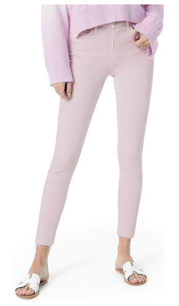Joe's Jeans The Icon Mid-Rise Crop Skinny w/ Raw Hem in lavender