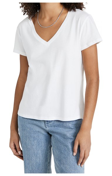 Joe's Jeans the raine deep v neck tee in white