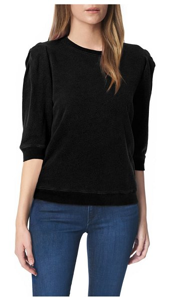 Joe's puff sleeve sweatshirt in black