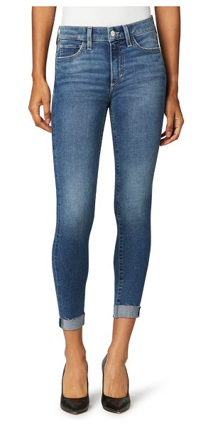 Joe's the icon raw hem crop skinny jeans in wavelength