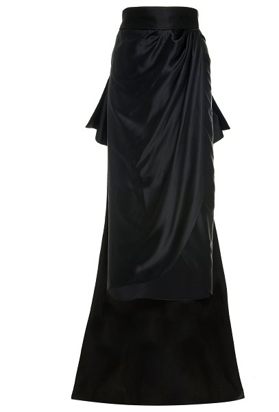 Johanna Ortiz exclusive antoine removable train silk skirt size: 0 in black