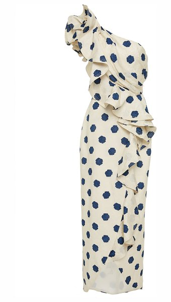 Johanna Ortiz exclusive japanese décor printed dress in white