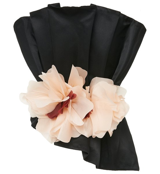 Johanna Ortiz exclusive silent night belted silk top in black
