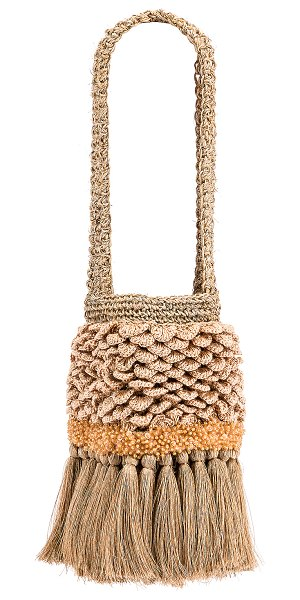 Johanna Ortiz honey lavender mini bag in camel