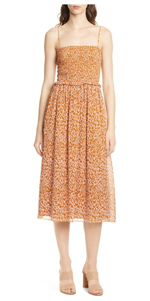 Joie ambrose silk party dress in copper