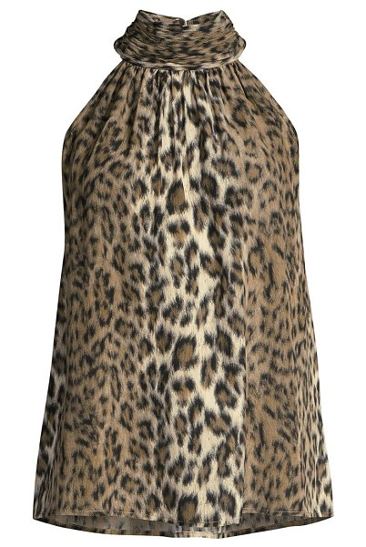 Joie erola leopard halter top in light taupe