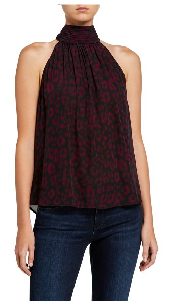 Joie Erola Printed Halter Top in plum