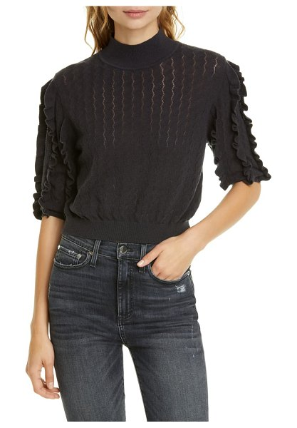 Joie halton wool & cashmere blend sweater in caviar