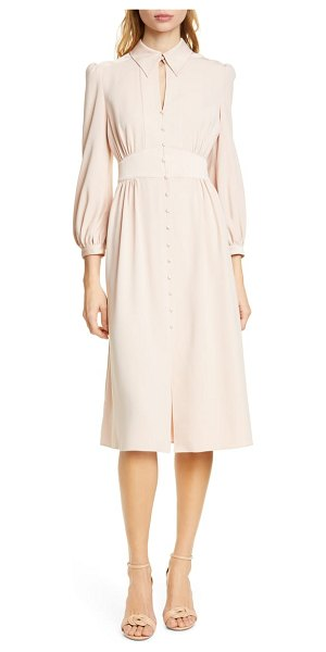 Joie linaeve midi dress in pink sky - Prim and polished, this supple midi is styled with a...