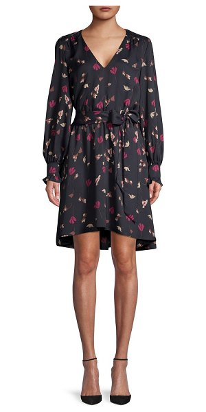 Joie Marlayne Belted Floral Dress in caviar
