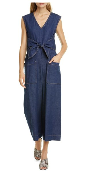 Joie wister sleeveless denim jumpsuit in joie indigo