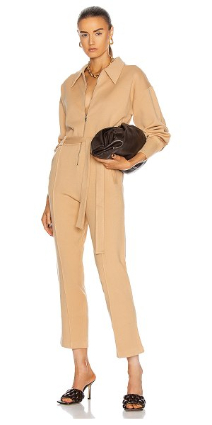 JONATHAN SIMKHAI annabelle belted jumpsuit in camel